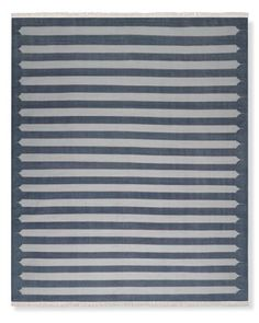 WS Home 400Stonewashed Moorish Stripe Flatweave Rug #williamssonoma