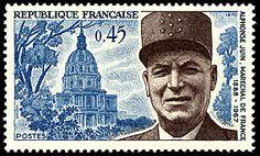 Alphonse Juin - Maréchal de France 1888 - 1967 - Timbre de 1970