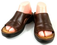 Naot Shoes Womens Size 8 M Brown Leather Slides Sandals #Naot #Slides