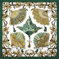 Belle-Epoque Hermès Silk Scarf: Shades of Green | Vintage Carré | @vintagecarre | www.vintagecarre.com