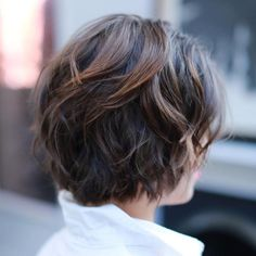 Short Messy Brown Balayage Hairstyle