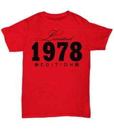 1996 Limited Edition any year personalized Birthday Party Birthday Shirts, Trending Outfits, Prints, Mens Tops, Stuff To Buy, Party, Etsy, Fashion, Moda
