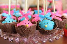 festa passarinhos azul e rosa - Pesquisa Google