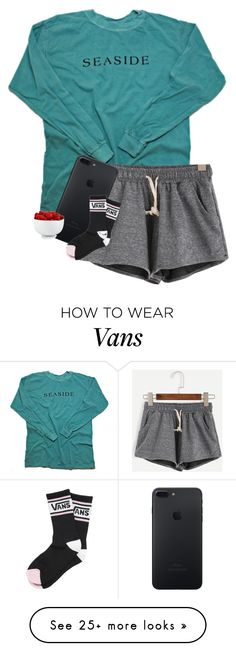 """mornin'"" by cait926 on Polyvore featuring The Cellar and Vans"