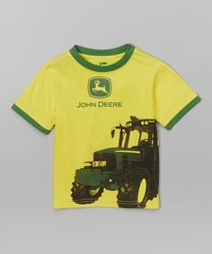 Love this Yellow Logo Tractor Tee - Infant on #zulily! #zulilyfinds