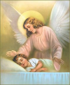 Good night, my Guardian Angel, the day has sped away;  Well spent or ill, its story is written down for aye.  And now, of God's kind Providence, Thou image pure and bright,  Watch o'er me while I'm sleeping-----My Angel dear, good night! ✝  #Catholic #FirstFriday #MyCatholicFaith #GuardianAngel