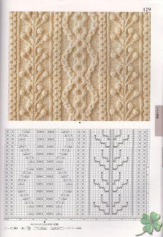 Японские узоры спицами и схемы №2 - Модное вязание