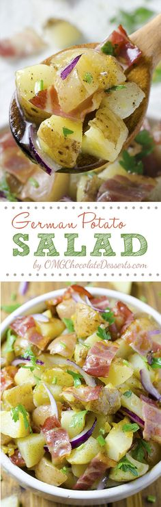 If you are thinking about something ideal to go with your BBQ, fried chicken or hamburgers, German Potato Salad is something just perfect to think about. #potato #salad
