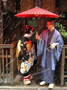 kimono and winter storm