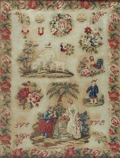 An Exceptional 19th Century European Sampler ~ Undated