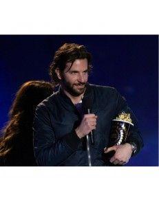 Bradley Cooper American College Celebrity Leather Bomber Jacket