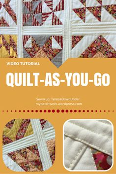 This the written instructions to go with the Video Video tutorial: Quilt-as-you-go (QAYG), the easiest way to finish your quilt on a domestic machine Quilting For Beginners, Quilting Tips, Quilting Tutorials, Machine Quilting, Quilting Projects, Quilting Designs, Sewing Tutorials, Crazy Quilting, Beginner Quilting