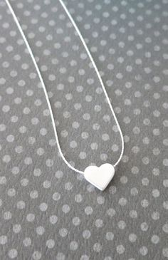 Petite Rose Gold Heart Necklace bbf necklace chic