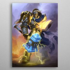 "Beautiful ""Uther the Lightbringer"" metal poster created by Blizzard . Our Displate metal prints will make your walls awesome. Poster Wall, Poster Prints, Posters, Wall Art Prints, Canvas Prints, Poster Making, Print Artist, Cool Artwork, Printable Wall Art"