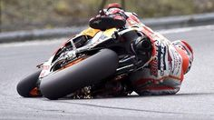 Marc Marquez dans le virage n°12 du circuit situé non loin de Brno.  «68 degrés. Comment? Je ne sais pas!»