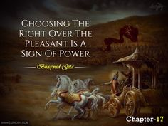 17-Choosing-The-Right-Over-The-Pleasant-Is-A-Sign-Of-Power Radha Krishna Love Quotes, Lord Krishna Images, Krishna Radha, Krishna Leela, Mahabharata Quotes, The Mahabharata, Geeta Quotes, Sanskrit Quotes, Bhagavad Gita