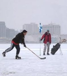 Canadian Humor:  All Season Golf....could be Midwest Humor lately!