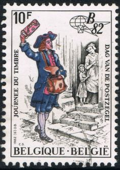 This week I decided to look into the stamps with traditional costumes from Belgium, and to my surprise, I even found another stamp with a...
