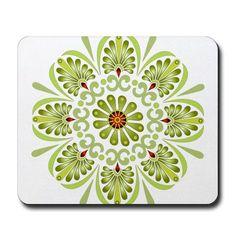 Jade Lotus Mandala Mousepad