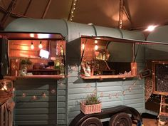 our wonderful mobile gin bar 'Molly'- we rescued her as a 50 year old Rice horse trailer- over 30 gins on her bar- contact us for hire details Trailer Interior, Bar Interior, Horse Box Conversion, Cowboys Bar, Prosecco Bar, Caravan Bar, Bar Hire, Coffee Van, Gin Bar