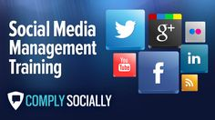 http://complysocially.com/online-social-media-policy-training/social-media-for-business/ Social media management training from the top-rated, longest-running social media training provider, accessible on your computer, smart phone or tablet.  Learn how to capitalize on the opportunities of social media in the workplace in this self-paced, online course that you can take right now.