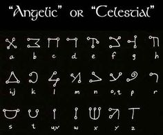 Witches and Pagans facebook - Angelic Script, derived from Hebrew. During the early centuries after Christ's' death, a few scholars began a study of the Angelic Kingdoms.Strict rules and politics governed who could and could not share information about these beings. Study of these messengers and beliefs were strongly scrutinized by the political forces of the time. Disobeying or undermining the political and religious governors of this information was severely punished.