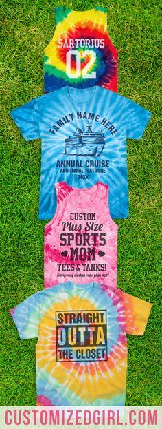 Don't call it comeback. Create your own modern twist on custom tie-dye shirts! #tiedye