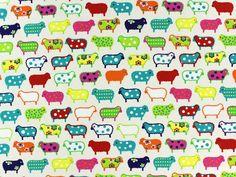 Katoen kleine schapen, off wit, 66104-901, bij stoffen-hemmers.nl