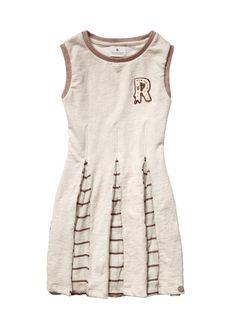 Scotch R´Belle Mädchen Kleid, Sweat dress with woven inserts www.frohtag.de 89,95€