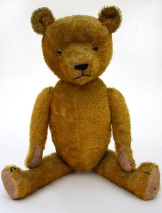 "Early American Humpback ""stick"" teddy bear (24 in. long)"