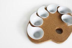 σ Sigma Palette Painting for Gourmet Food #appetizer #food #cork #ceramic #tablepieces #design #minimal