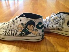 Michigan State University Shoes by ChromeReflections on Etsy, $125.00