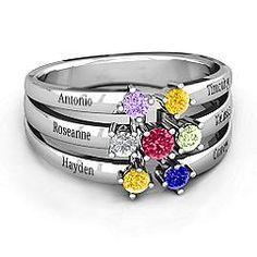Spidra' Round Centre Mother's Ring #jewlr