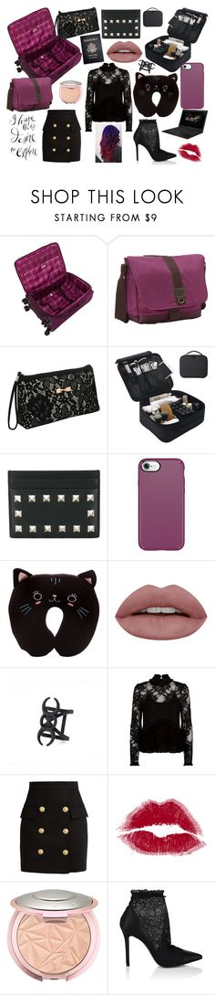 """""""Contest: Work Trip"""" by mandyarsenyk on Polyvore featuring G.H. Bass & Co., Passport, Valentino, Speck, ASUS, Alexis, Balmain and Stella Luna"""
