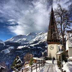 """Jesus said to him, """"It is written again, 'You shall not tempt (test) the LORD your God.'"""" [Matthew 4:7] (Wengen, The Lauterbrunnen Valley)"""