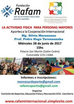 """Argentina:Fundación Rafam con """"La Actividad Física para Personas Mayores""""   Central Informativa del Adulto Mayor"""