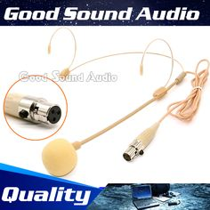 >> Click to Buy << Beige TA3F XLR 3 Pin Connector Headworn Headset Microphone Ear Hook Condenser Head Mic For SAMSON Wireless Body-Pack Transmitter #Affiliate