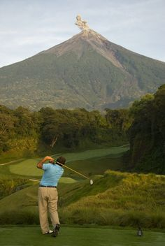 Fuego Maya Golf Course, Antigua Guatemala Find latest in Golf Push Carts and More @ http://bestgolfpushcarts.net/product-category/golf-push-carts/caddylite/