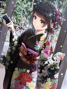 Marvelous Learn To Draw Manga Ideas. Exquisite Learn To Draw Manga Ideas. Girls Anime, Anime Girl Cute, Beautiful Anime Girl, Anime Art Girl, Kimono Animé, Anime Girl Kimono, Manga Girl, Anime Chibi, Manga Anime