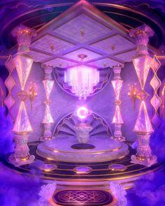 Aesthetic Space, Purple Aesthetic, Fantasy Places, Fantasy World, Aesthetic Backgrounds, Aesthetic Wallpapers, Dr Mundo, Rainbow Room, Fantasy Castle