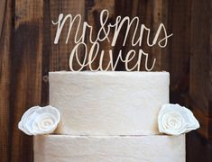Wedding Cake Topper  Cake Toppers  Rustic Cake by CountryBarnBabe