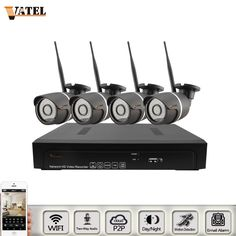 (221.88$)  Watch here - http://aip1g.worlditems.win/all/product.php?id=32757692039 - VATEL two way audio wifi system kit 5mp 3mp 1080p NVR kit with 4pcs bullet ip camera wifi kit waterproof night vision p2p onvif