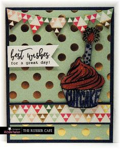 Cupcake Wishes by @mshellp  for @therubbercafe using @mymindseyeinc #card #stamping #creativecafeKOTM