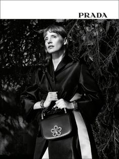 SEE JESSICA CHASTAIN AS THE NEW PRADA GIRL