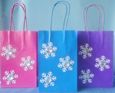 Frozen Birthday Party Favor Bags Set of 6 by SamsCreationStation, $12.00