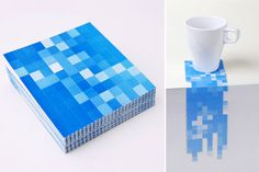 Pixel coasters. The pixels come apart so you can shape it how you want.