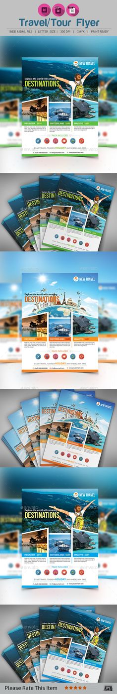 Holiday Travel/Tour Flyer Template PSD #design Download: http://graphicriver.net/item/holiday-traveltour-flyer-template/12800248?ref=ksioks