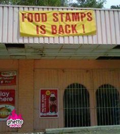"""Food stamps """"is"""" back"""