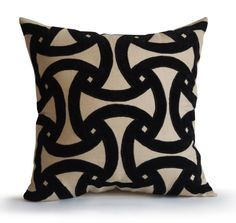 Designer geometric applique gray linen black velvet pillow cover for modern decor. This toss pillow cover is available in all sizes. The accent cushion cover makes a great add to the decor or gift for Black Pillow Covers, Modern Pillow Covers, Beige Pillows, Black Pillows, Geometric Throws, Geometric Pillow, Throw Pillow Cases, Toss Pillows, Burlap Pillows