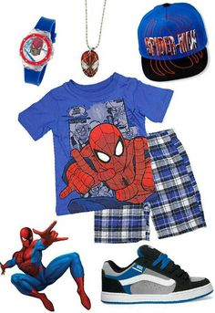 83ae7f34c72 Boys Spiderman outfit. Black Blue Graphic Hat. Spiderman Snapback Cap. 8+  years
